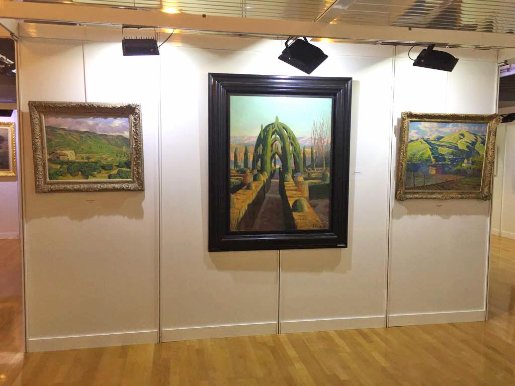 Pintura de Benjamín Palencia en Galería de Arte Lorenart, exposición de Arte de Logroño